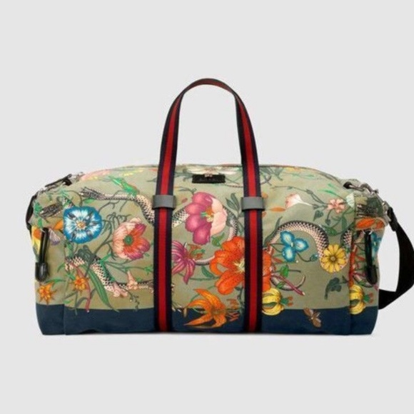 7df6d228fd6a Gucci Bags | Flora Snake Print Duffle | Poshmark